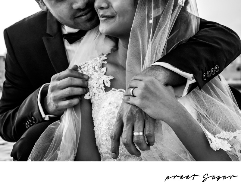 Birde and Groom Portraits in Deira Creek