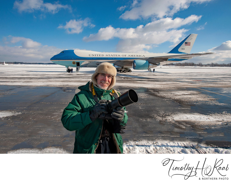 White House Press Pool Photographer RAAB w/ Air Force One