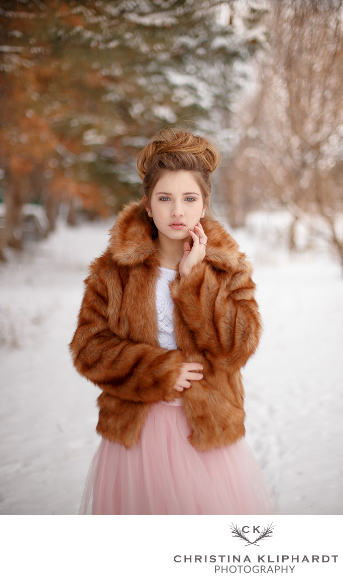 Senior Photography Winter Christina Kliphardt Photography
