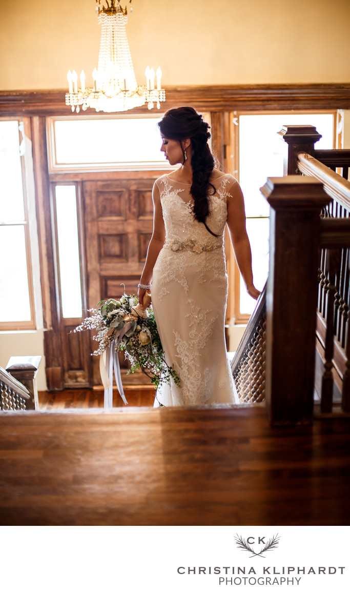 Amys Bridal Vintage Wedding Moore Mansion Christina Kliphardt Photography