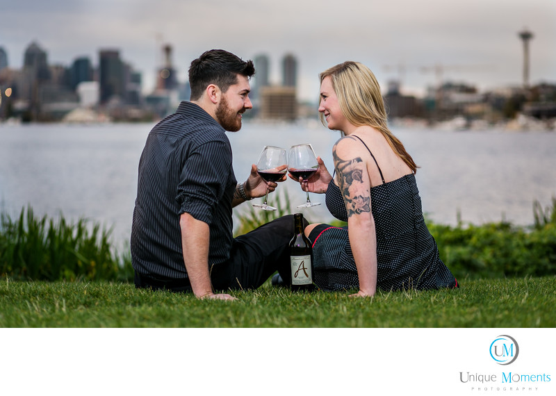 Gas Works Park Engagement Session Seattle