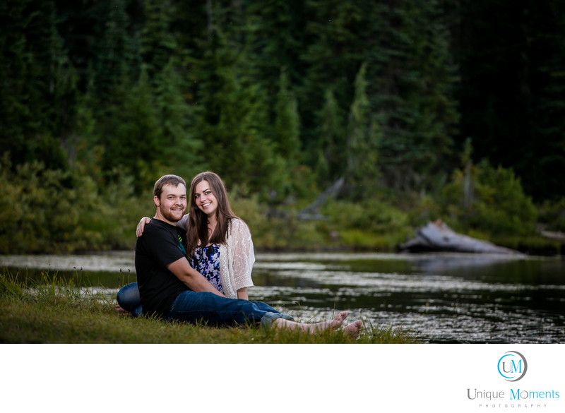 Mt Rainier Park  Engagement session Reflection lake