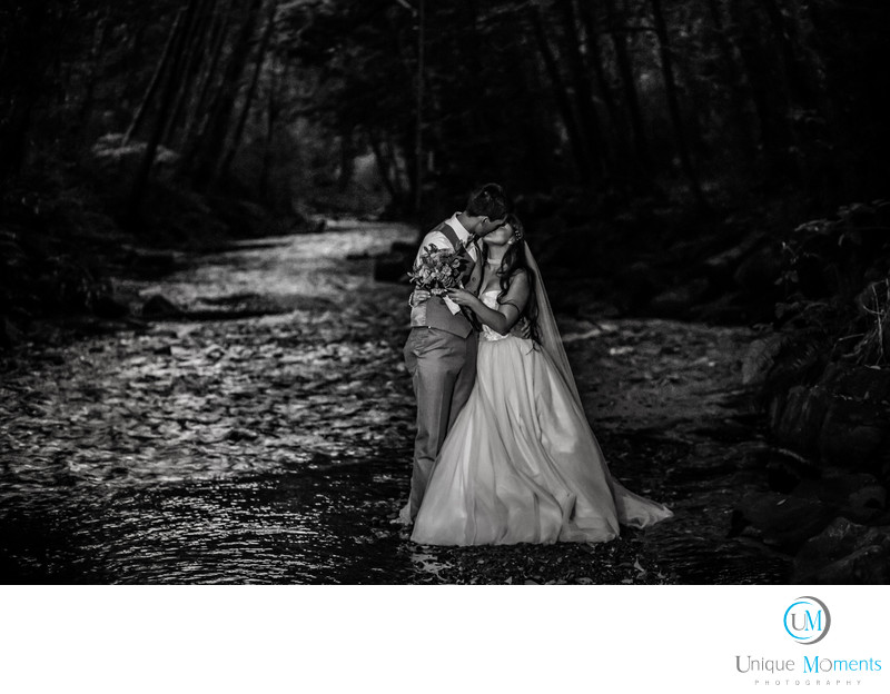 Moon Light Wedding Portrait Tacoma Wedding Photographer