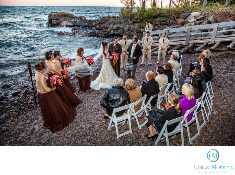 Beach Wedding Lake Superior MN