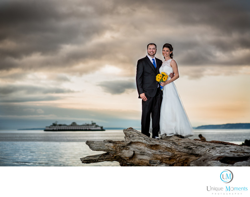 Marina Beach Park Edmonds Washington Bridal Portrait