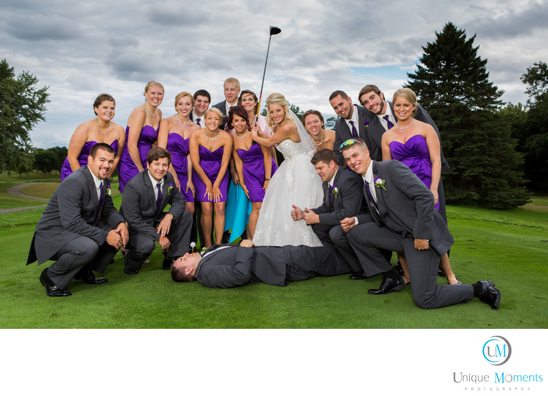 Best Outdoor Bridal Party Image Gig Harbor Golf course