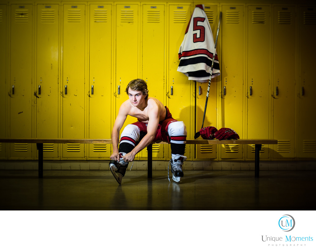 Gig Harbor High School Senior Portrait School locker room