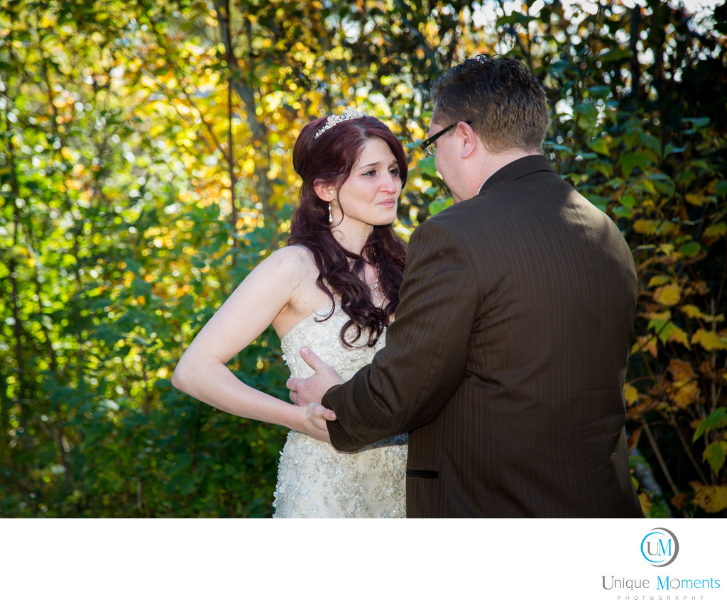 Lakewood Wedding Photographer First Look Pictures