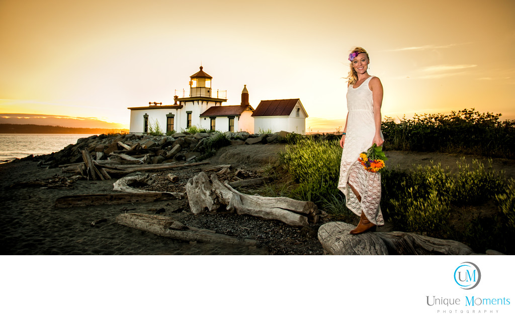 Best Sunset Bridal Portraits Seattle Washington