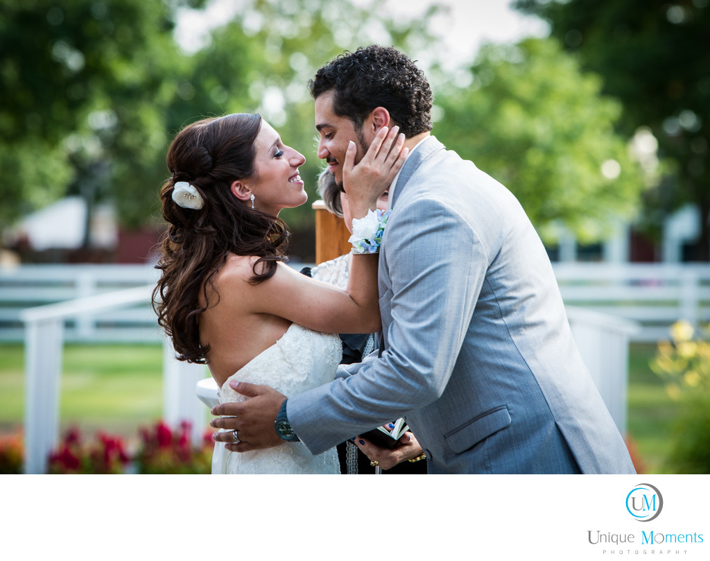 Gig Harbor Wedding Photographer Bride Kissing Groom