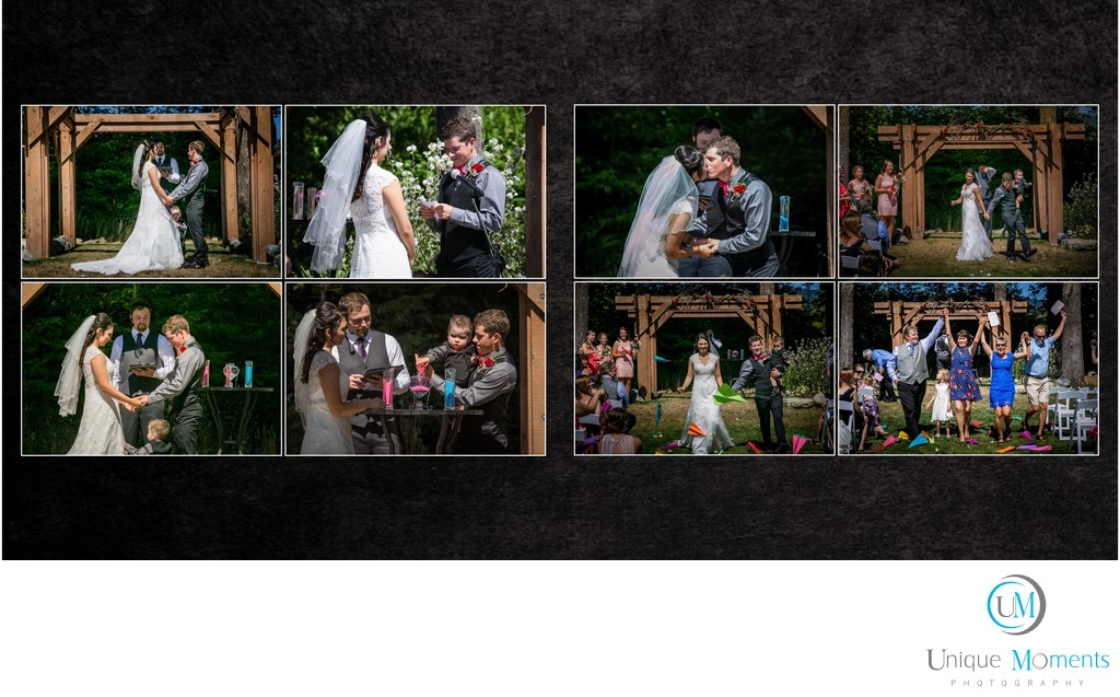Wedding Album services with Unique Moments Photography