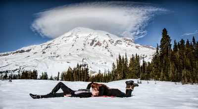 Mt. Rainier National Park Engagement Portrait