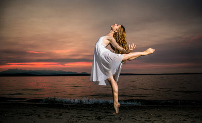 Alki Beach Ballerina Portrait Session