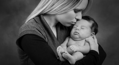 Gig Harbor Portrait Photographer 4 week baby session