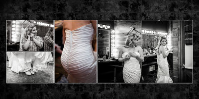 Gig Harbor Wedding photographer Album spread 1 Amy and Eric