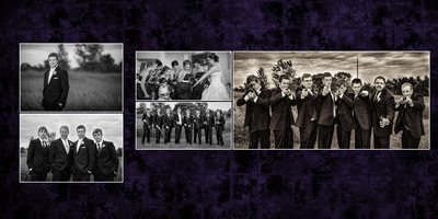 Wedding Photographers Tacoma Washington, album spread