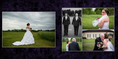 Gig Harbor Wedding Album Sample A dads First look
