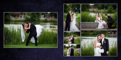 Gig Harbor Wedding Album sample spread 13 Kiri and Greg