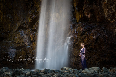 Franklin Falls maternity session