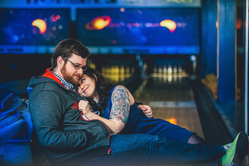 Unique Baltimore Bowling Engagement Photos