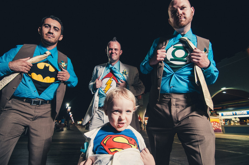 Ocean City, New Jersey Superhero Wedding