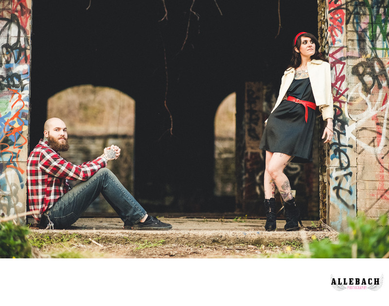 Tattooed Engagement Photos