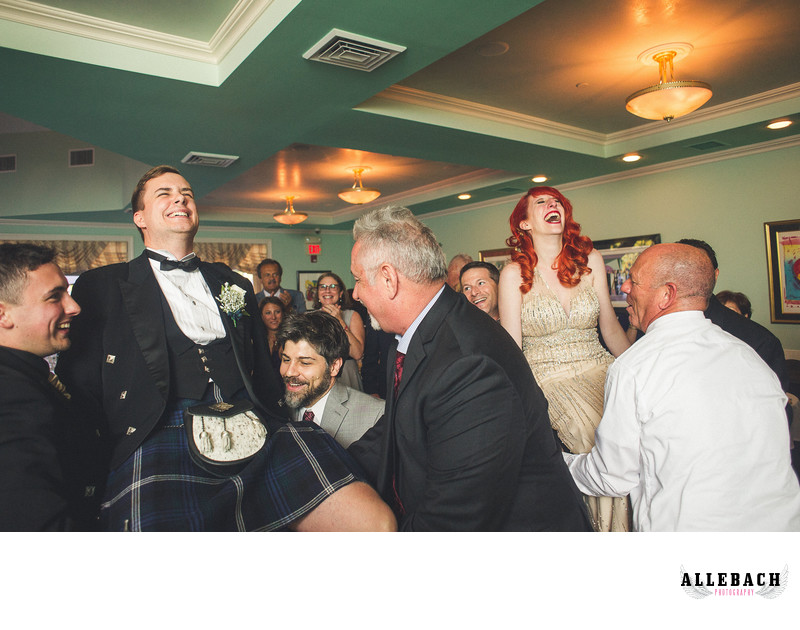 Hora Dance with Kilted Groom in New Jersey