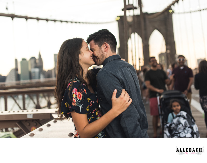 Brooklyn Bridge New York Engagement Photography
