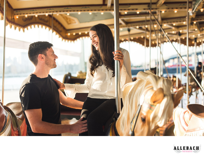Brooklyn Carousel Engagement Photos