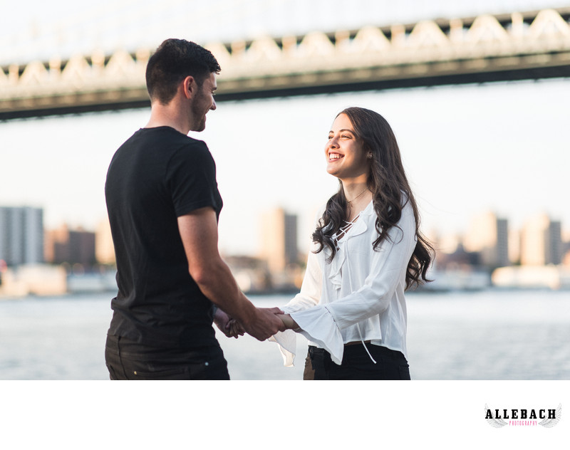 Manhattan Bridge Engagement Photo