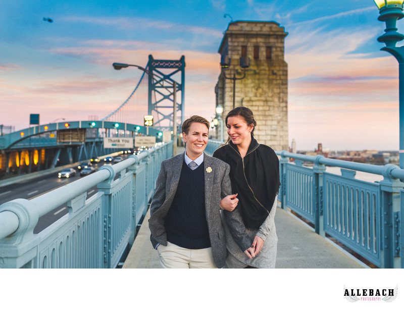 Philadelphia Gay & Lesbian Engagement & Wedding Photographers
