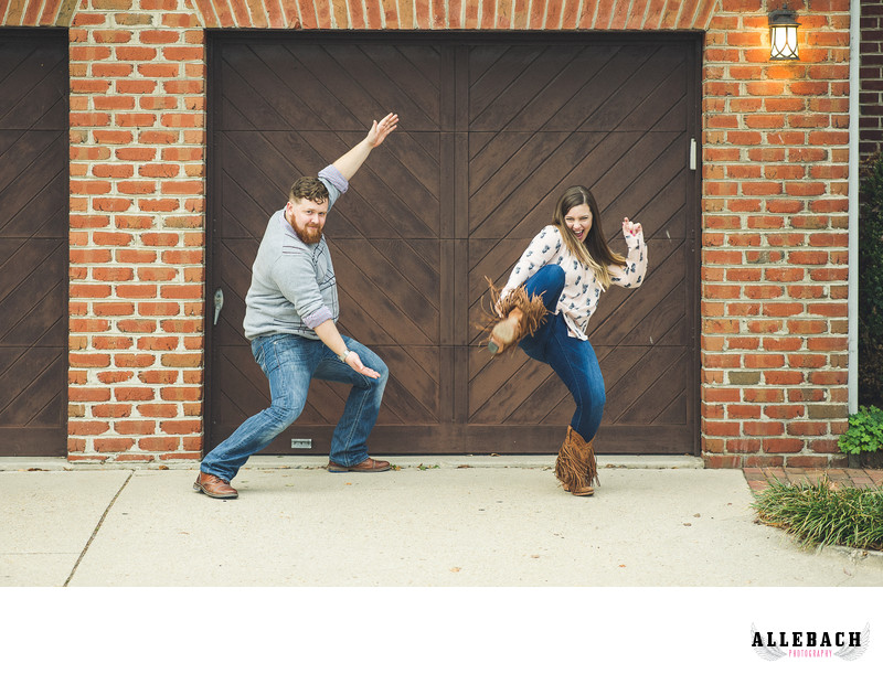 Fun Creative Philadelphia Engagement Photos