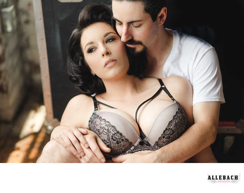 Sensual Couples Boudoir Session