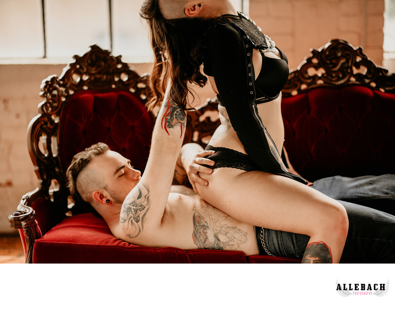Hair Grabbing Erotic Couples Boudoir