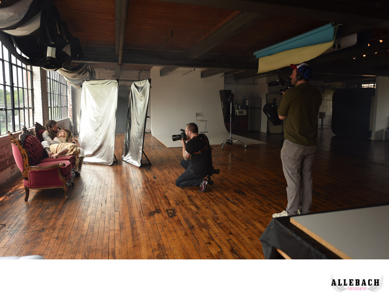Mike Allebach Photography behind the scenes