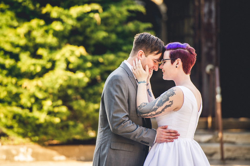 Tattooed Bride and Groom at Eastern State Penitentiary
