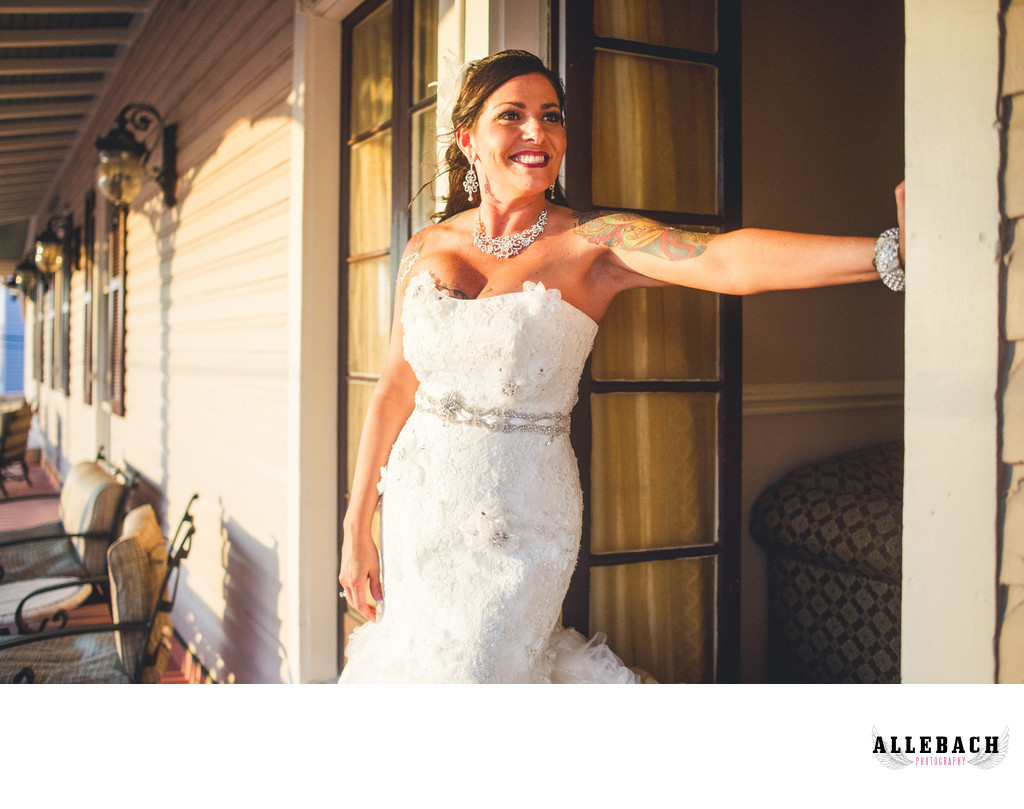 Cape May New Jersey Tattooed Wedding Photographer