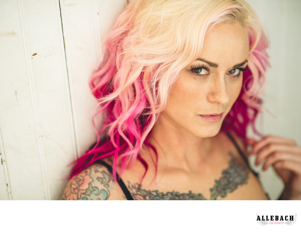 Tattooed Boudoir Photography by Allebach
