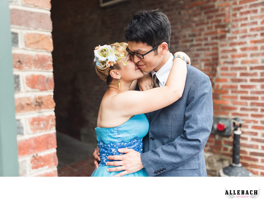 Philadelphia Wedding Couple by Allebach Photography