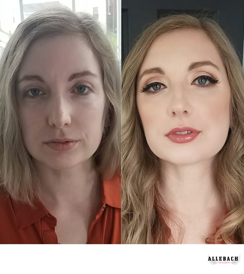 Philly Boudoir Makeup Before & After