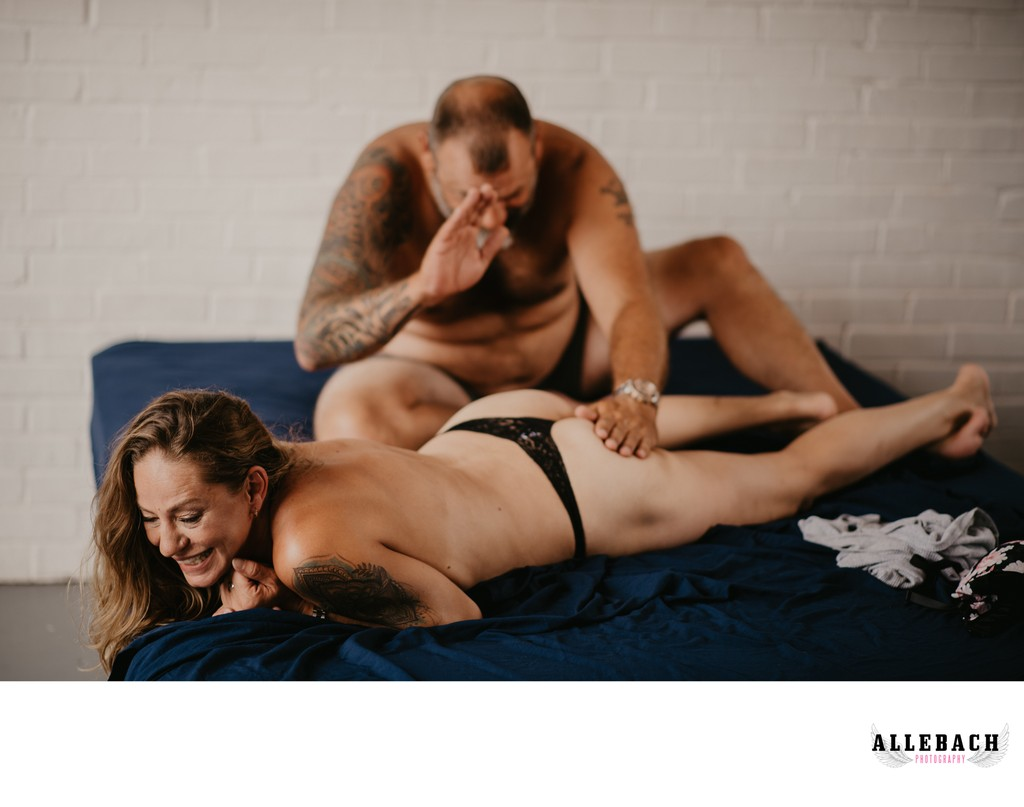 Couples Boudoir Portraits: Playing the Butt Bongos