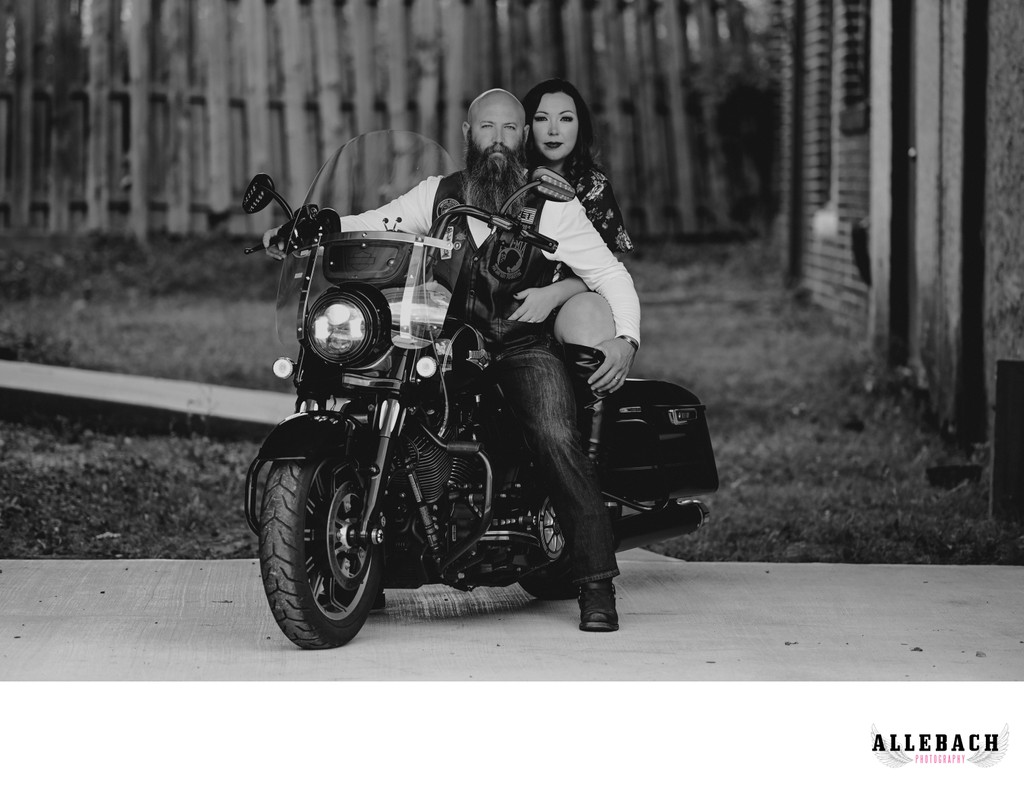 Motorcycle Couples Boudoir Photography