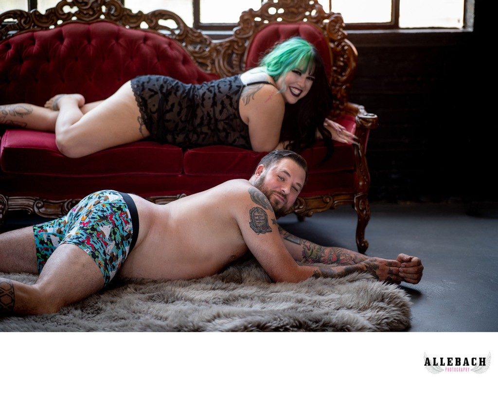 Fun and Cute Couples Boudoir Poses