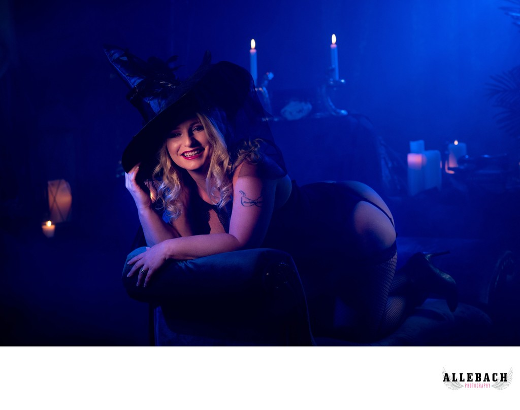 Halloween Boudoir by Allebach Photography
