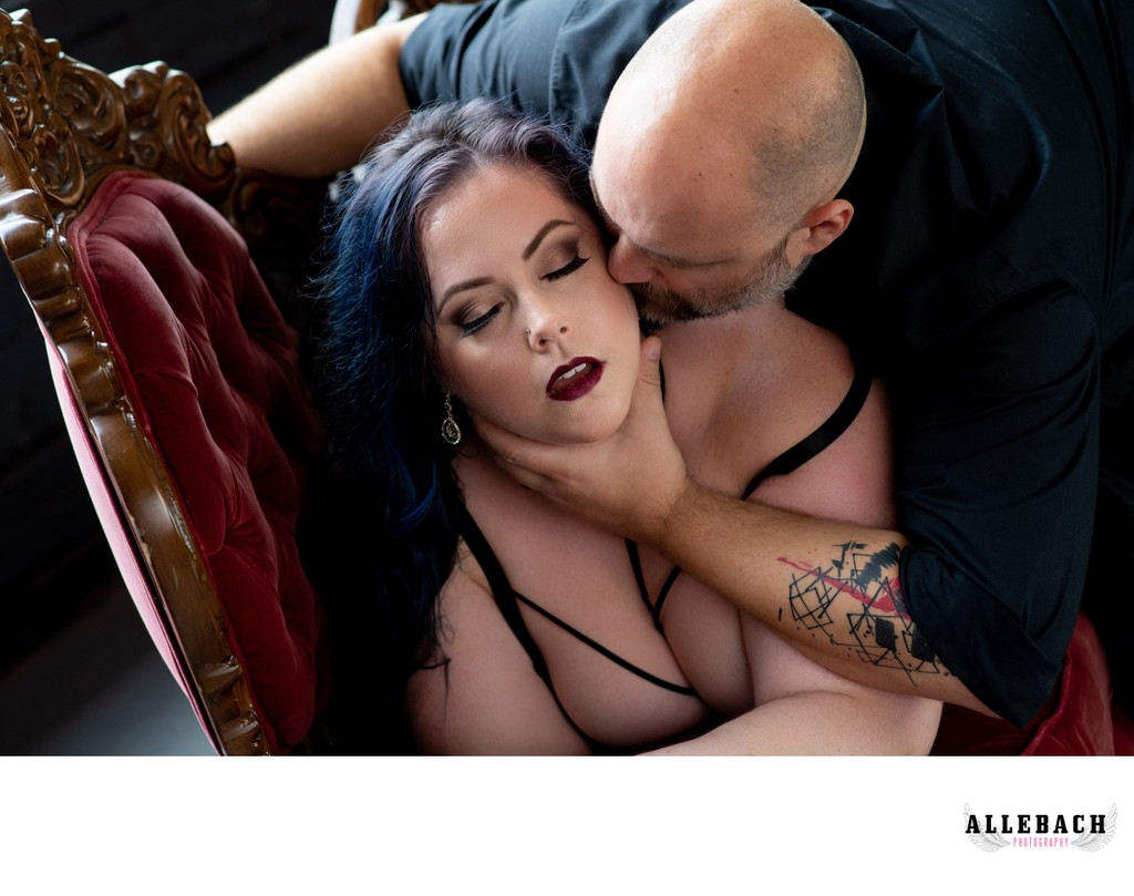 Couples Engagement Boudoir
