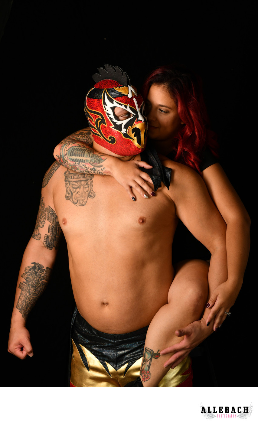Sexy Couples Boudoir with Lucha Libre Wrestler