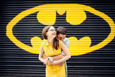 Batman Engagement Photo Ideas