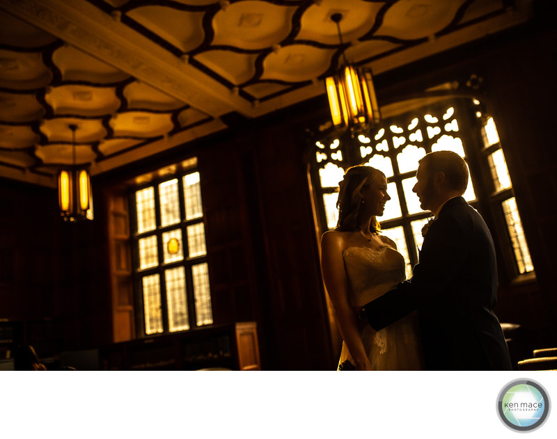Lehigh University Library wedding photo
