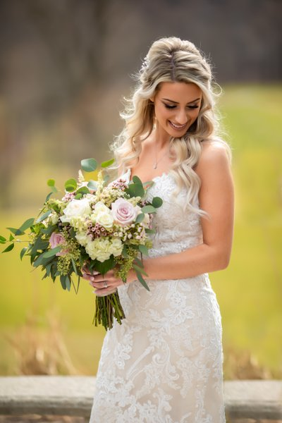 Woodstone CC Bridal Portrait in sunlight