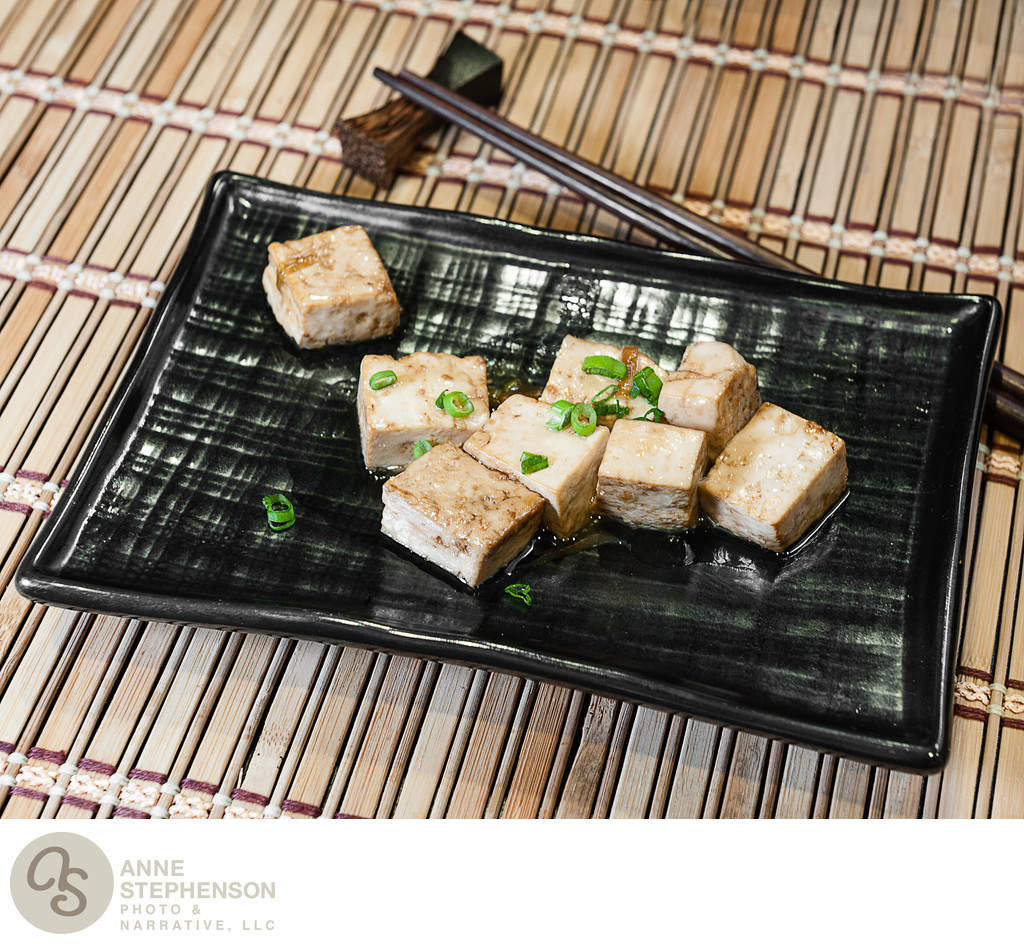 Tofu with scallions